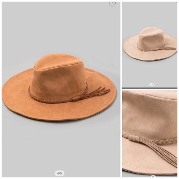 Wide Brim Suede Hat