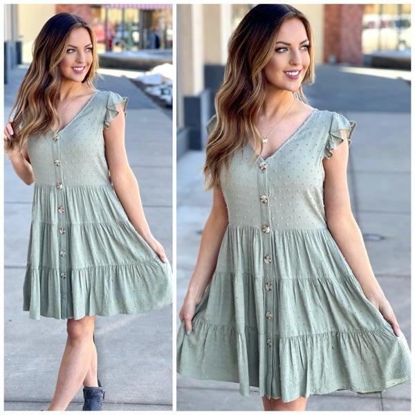 Molly Flutter Sleeve Dress