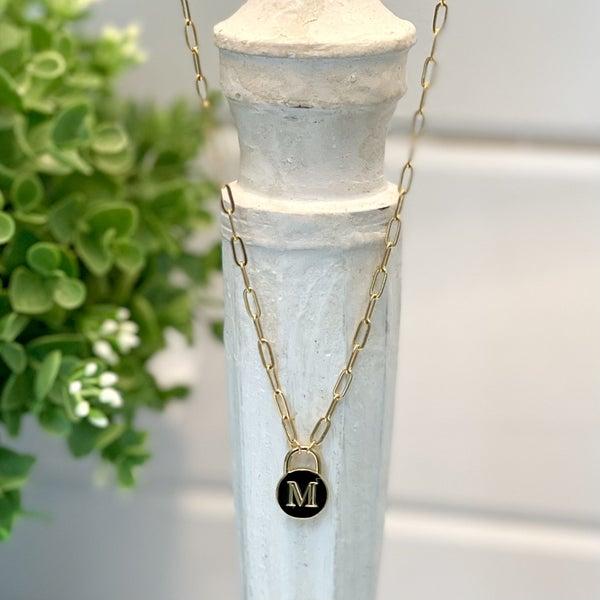 Padlock Initial Necklace
