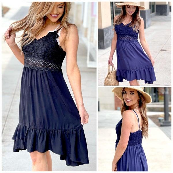 Bethany Lace Midi Dress