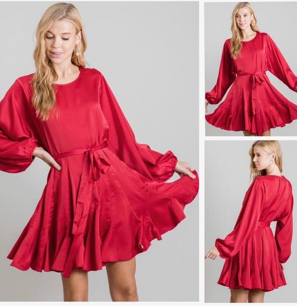 Amora Satin Dress
