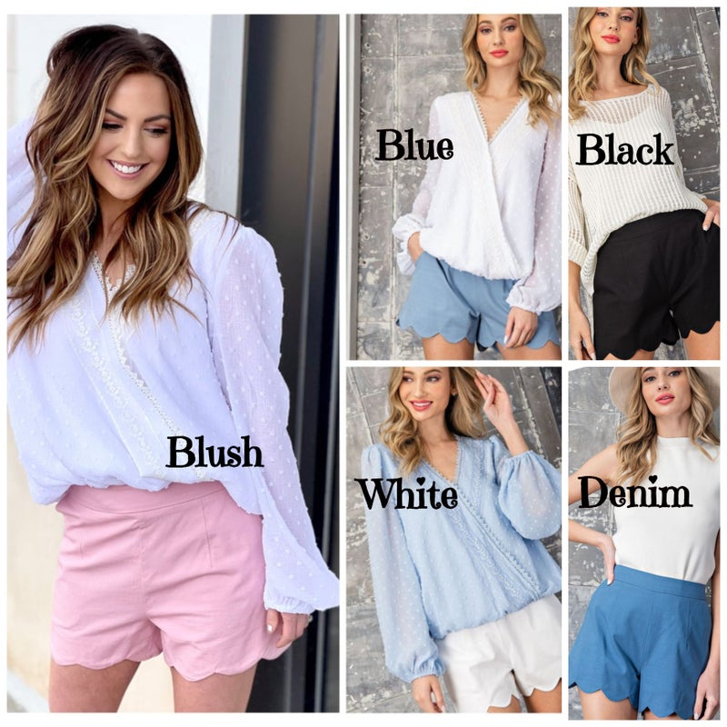 Reagan Scalloped Shorts
