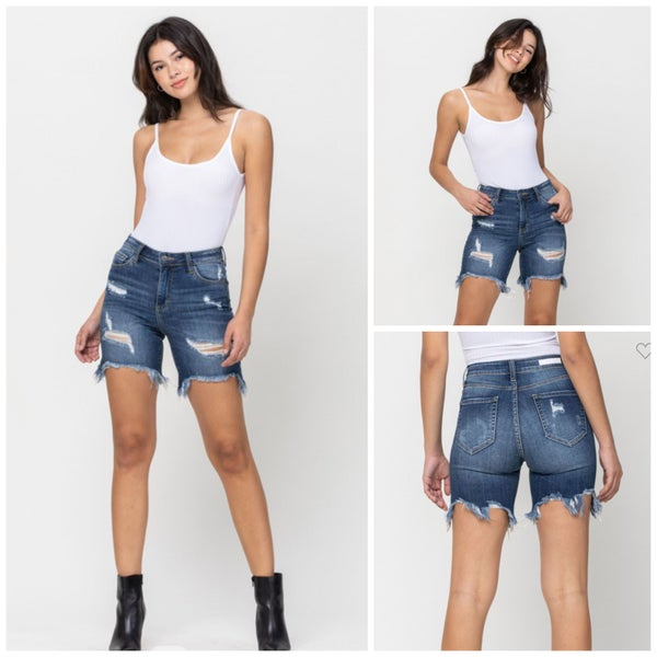 Brielle Distressed Denim Shorts