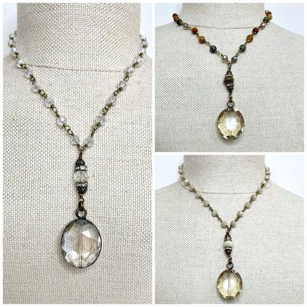Crystal Drop Necklace
