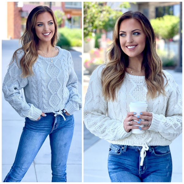 Margot Cable Knit Sweater