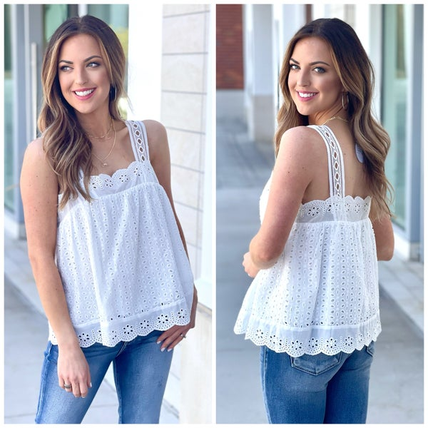 Caily Eyelet Tank *Final Sale*