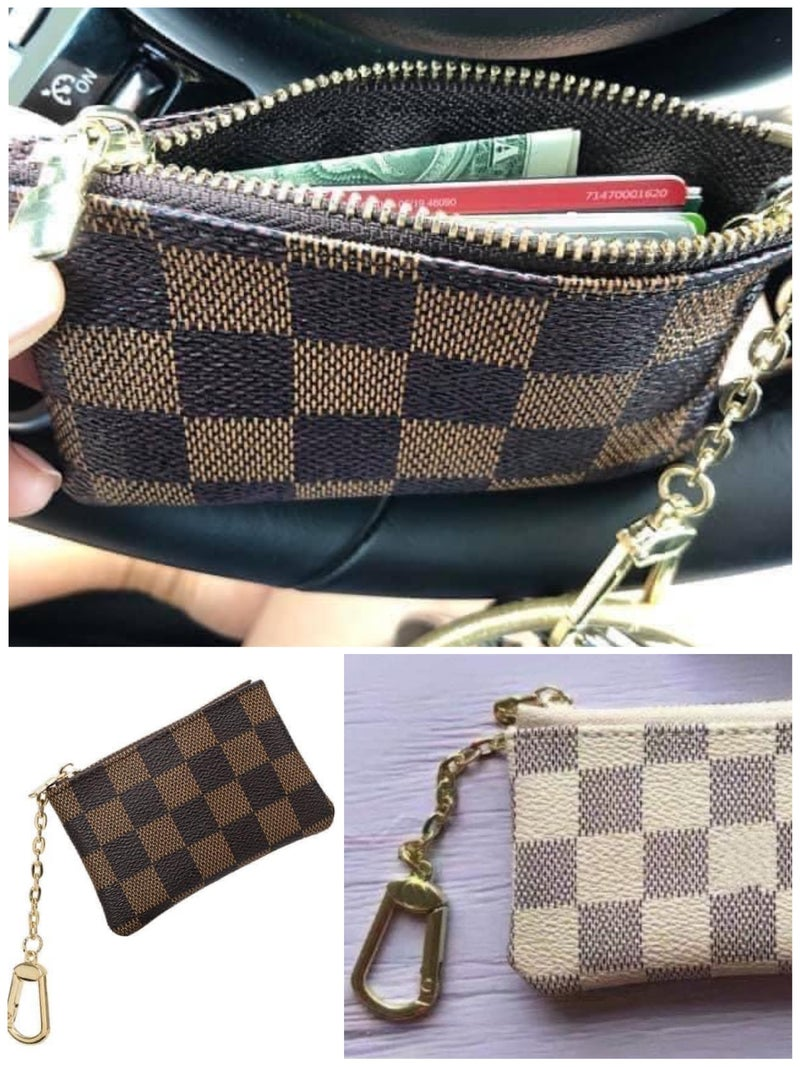 LV Inspired Key Chain Wallet