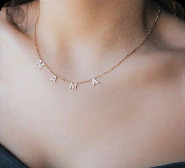Mama Letterblock Necklace