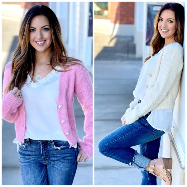 Emily Pearl Button Cardigan