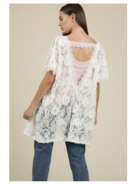 Zaylee Lace Kimono