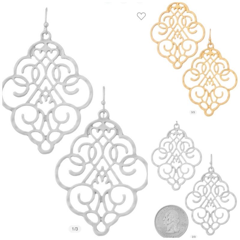 Dangle Scroll Earrings