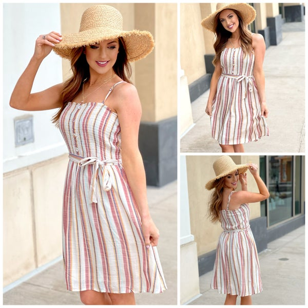 Julia Striped Sundress