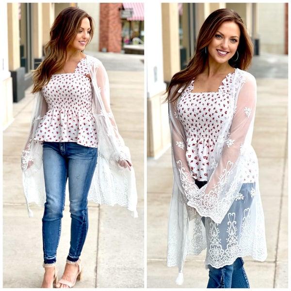 Felicity Lace Kimono