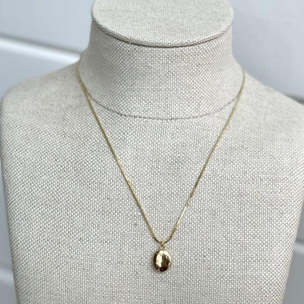 Oval Locket Necklace