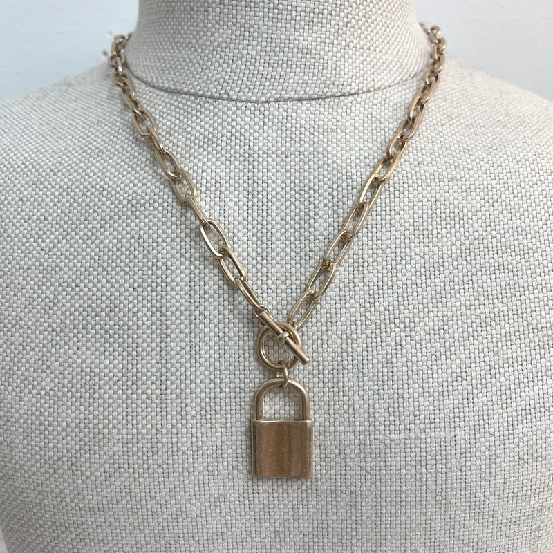 Locket Toggle Necklace
