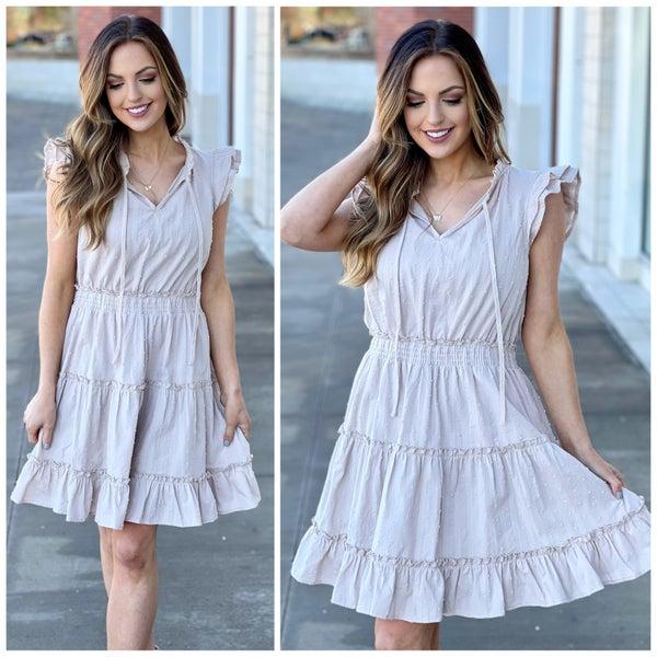 Juliette Flutter Sleeve Dress