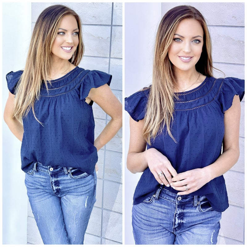 Claire Flutter Sleeve Top