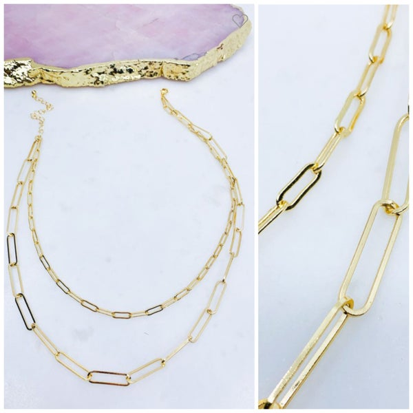 Two Strand Paperclip Necklace