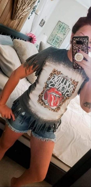 Rolling stones distressed t shirt