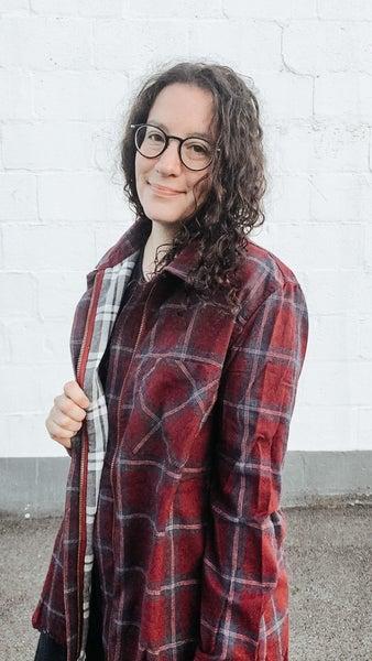 Slay-It Flannel Shirt-Jacket
