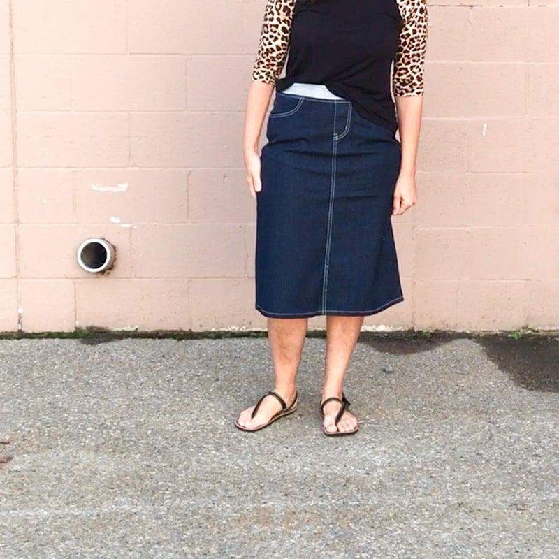 Secret to Success Denim Skirt