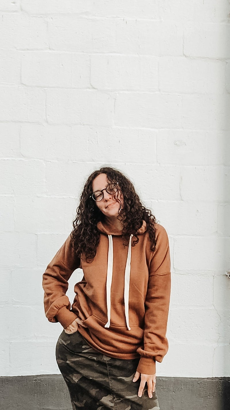Oversized Hoodie with Contrast Drawstring