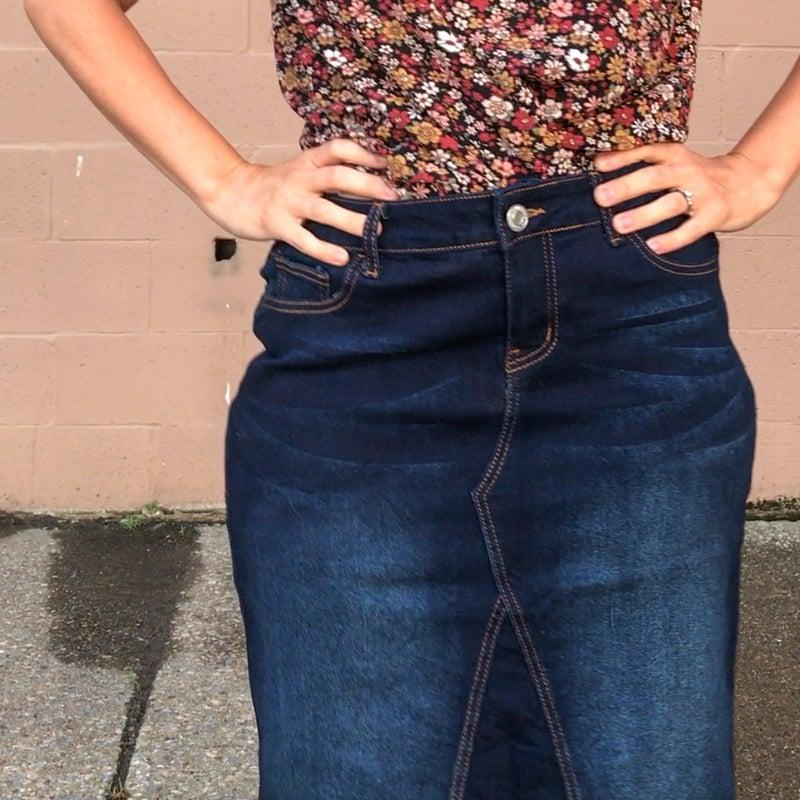 Dressed for Success Denim Skirt