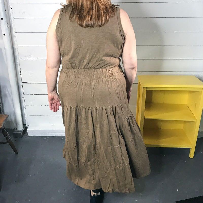 Green Fields Tank Dress
