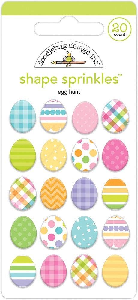 Doodlebug Design  Hippity Hoppity Sprinkles  Egg Hunt Shape