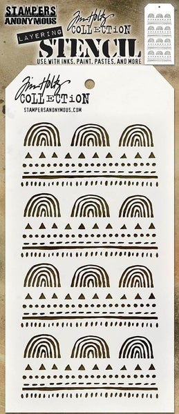 Stampers Anonymous Tim Holtz Nature Layering Stencil