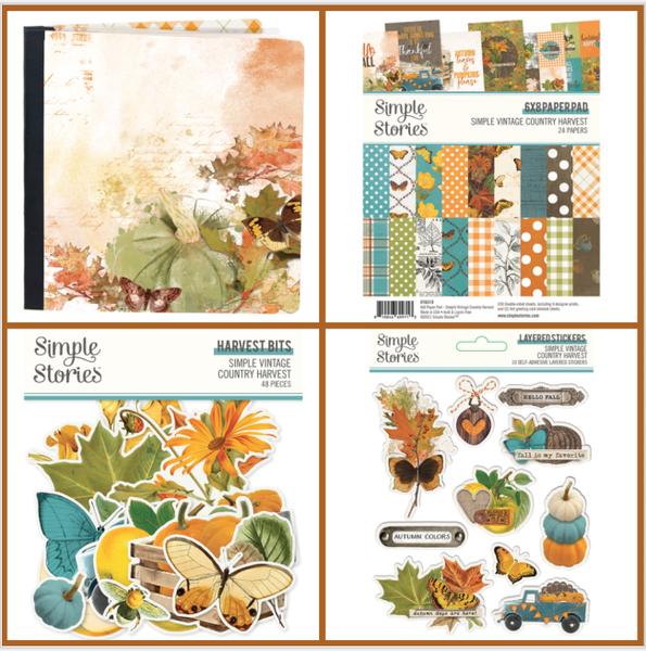Simple Stories Simple Vintage Harvest 6 x 8 FLIPBOOK Happy Scrappy Bag