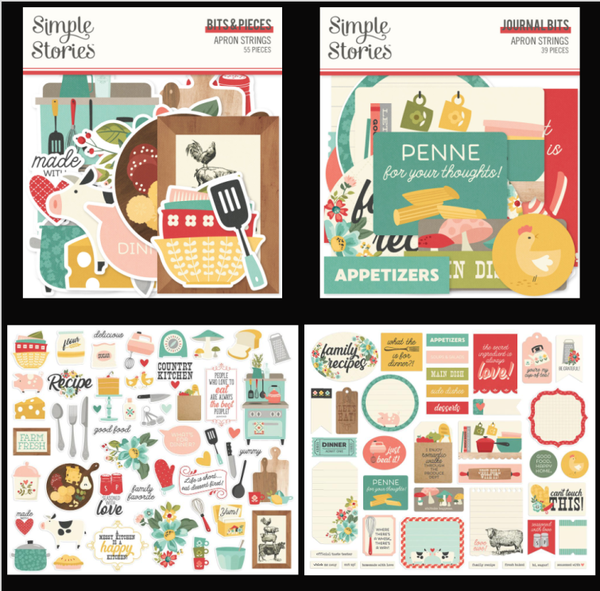Simple Stories Apron Strings Bits and Pieces and Journal Bits Lot
