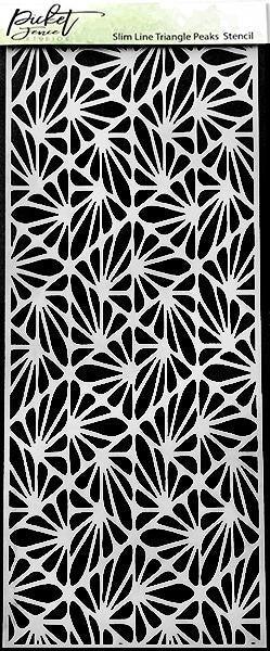 Picket Fence Studios 4 x 10 Slim Line Triangle Peaks Stencil