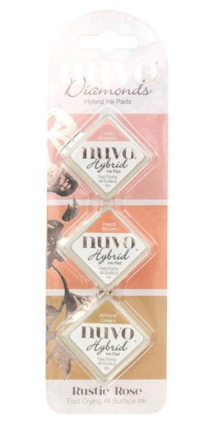 Nuvo  Diamond Hybrid Ink Pads Rustic Rose  90N