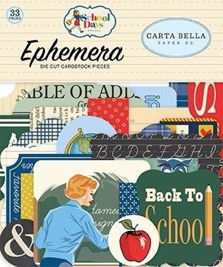 Carta Bella School Days 3 pc Embellishment set