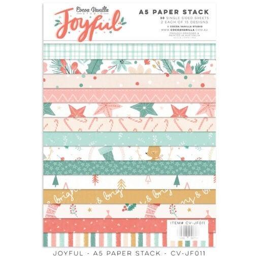 PRE ORDER Cocoa Vanilla Studio JOYFUL – A5 PAPER STACK
