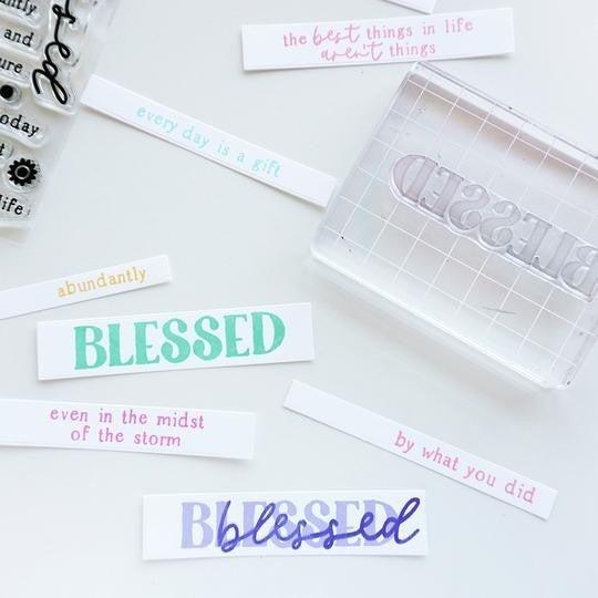 Catherine Pooler Abundantly Blessed Sentiments Stamp Set