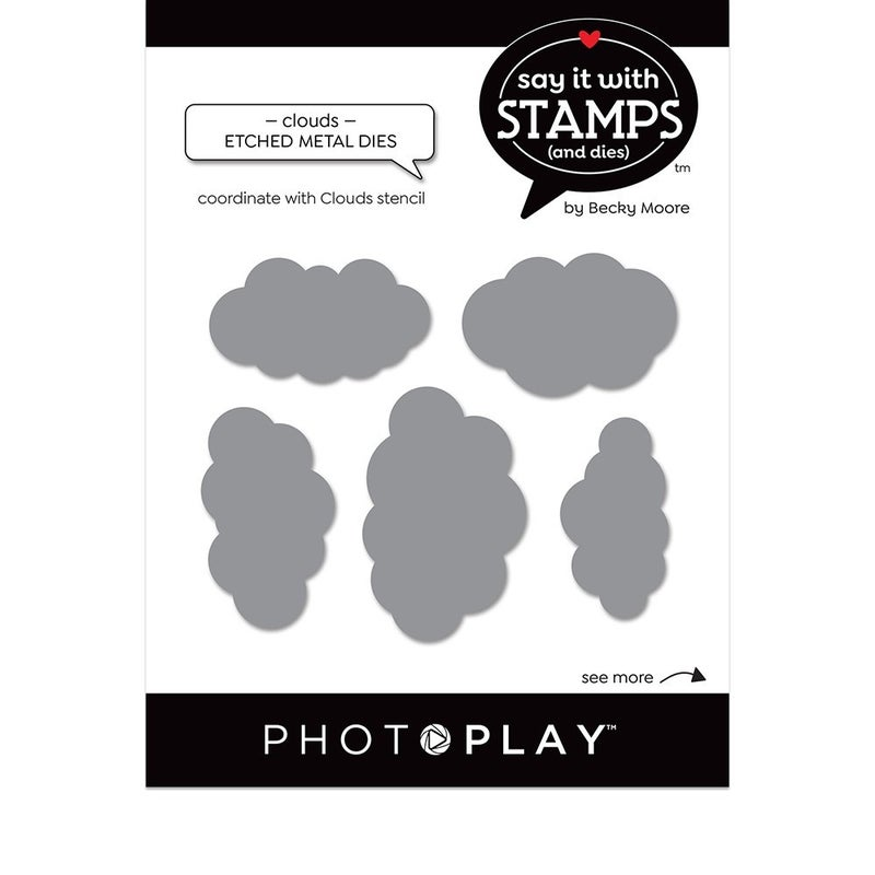 Photo Play Paper - Say It With Stamps Dies - Clouds