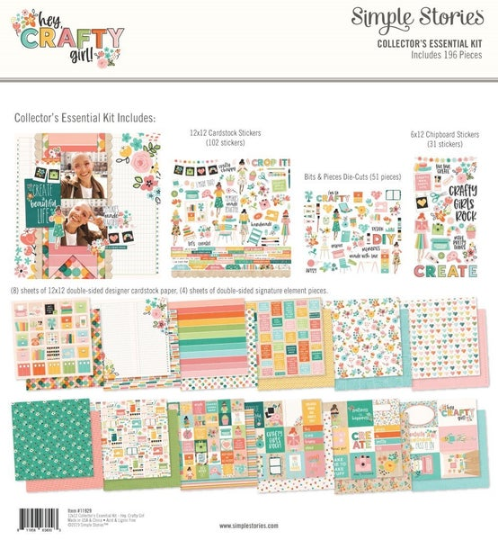 Simple Stories Hey Crafty Girl Collector's Essential Kit