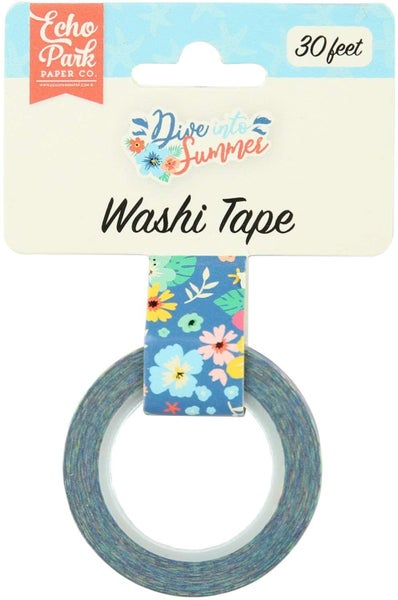 Echo Park Dive Into Summer Aloha Floral Washi Tape