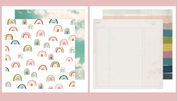 Heidi Swapp Rainbow Cloud 4 pc Set