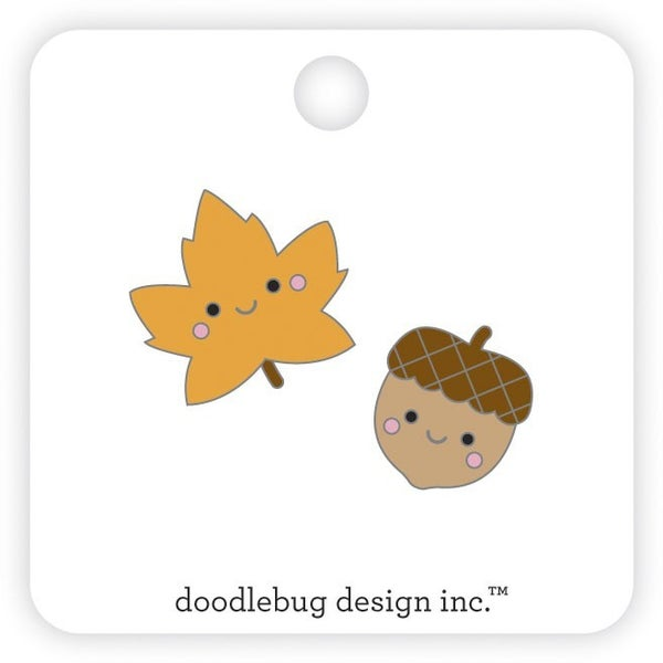 Doodlebug Design Pumpkin Spice Collection  Collectable Pins Fall Friends