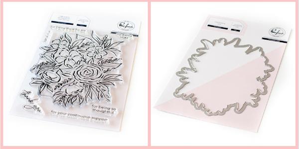 Pinkfresh Studio Full Bloom Stamp and Die Set