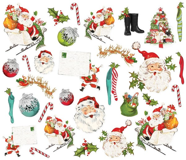 DIMPLE STORIES RETIRED Simple Vintage North Pole - Santa Bits & Pieces