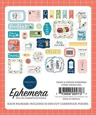 Carta Bella Craft & Create 2 pc Happy Scrappy Bag