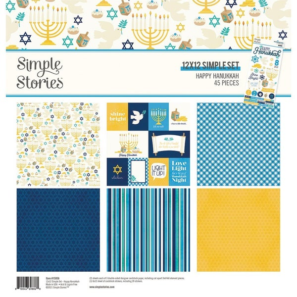 Simple Stories  Happy Hanukkah 12 x 12 Collection Kit