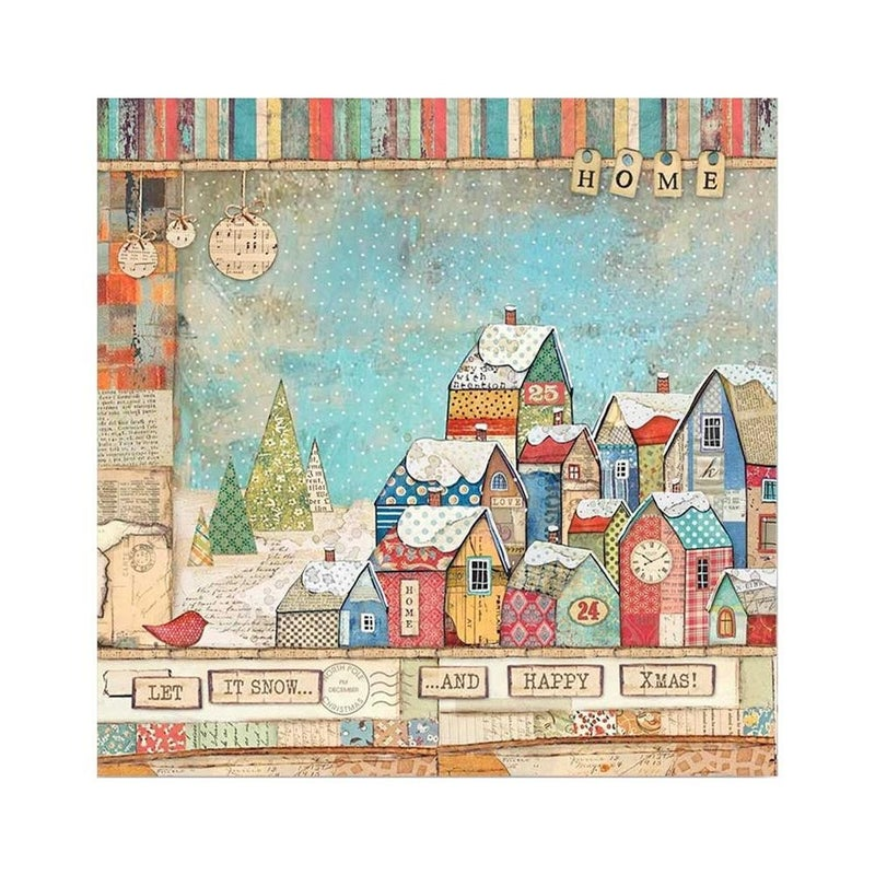 Stamperia  Christmas Patchwork 7 pc Happy Scrappy Bag