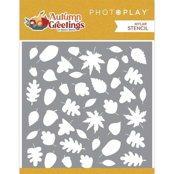Photo Play Autumn Greetings 6 x 6 Stencil