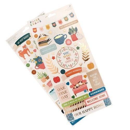 Paige Evans  Bungalow Lane - 6 x 12 Cardstock Stickers with Copper Foil Accents