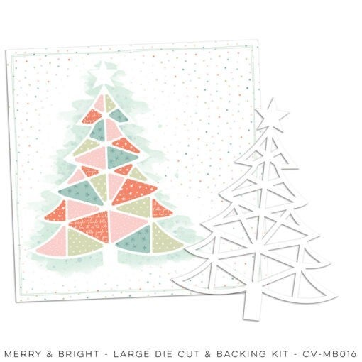 Cocoa Vanilla Studio MERRY & BRIGHT – Large Die Cut & Backing Kit
